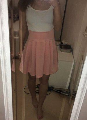 Falda de patinador rosa Poliéster