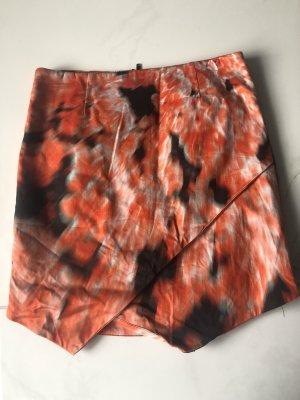 Bardot Mini-jupe noir-orange