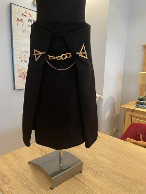 Bottega Veneta Wollen rok zwart-goud Kasjmier