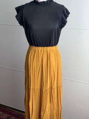 Zara Basic Maxi gonna giallo