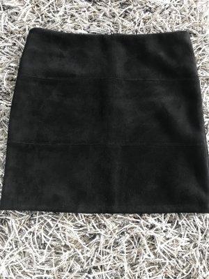 Zero Falda de cuero de imitación negro