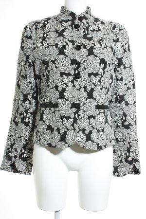 rock-it-baby Kurz-Blazer schwarz-weiß florales Muster Elegant