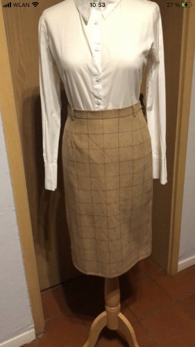 no name Tweed Skirt light brown-brown red