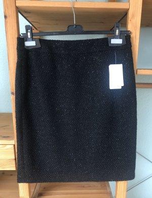 Gerry Weber Jupe en tweed noir-argenté