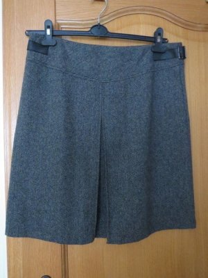 Tweed Skirt black-grey