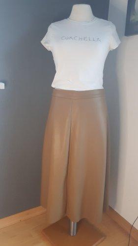 H&M Spódnica z imitacji skóry cognac Poliester
