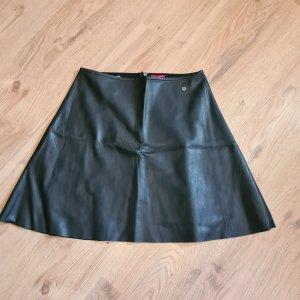 Livre Faux Leather Skirt black