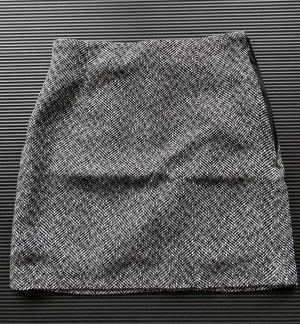 H&M Wełniana spódnica czarny-biały