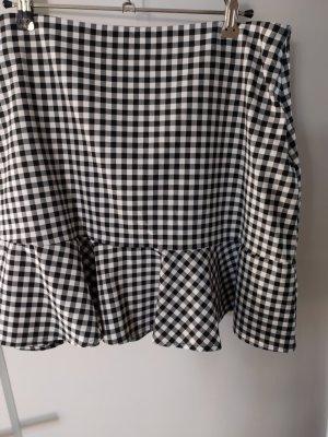 Pimkie Flounce Skirt white-black