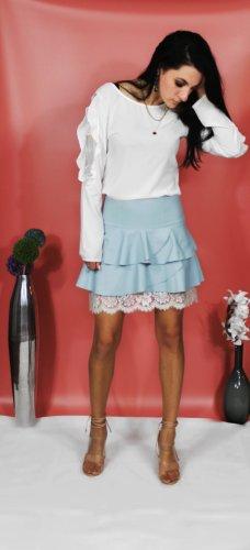La Rinascimento Broomstick Skirt azure polyamide