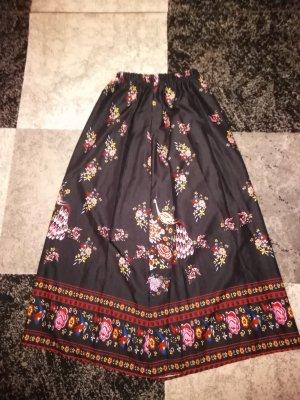 Falda de lino negro Poliéster