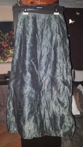 Angie Falda de tafetán gris oscuro-caqui