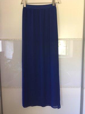 Rock lang von H&M in blau Größe 32
