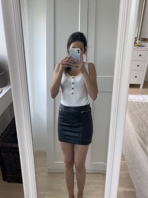New Yorker Spódnica z imitacji skóry czarny