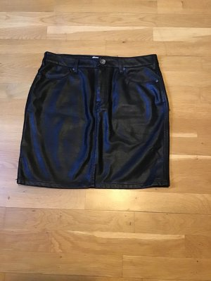 17&co Faux Leather Skirt black