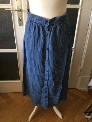 LTB Falda de lino gris claro-azul acero Lino