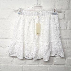 Effeny Spódnica z falbanami biały Bawełna