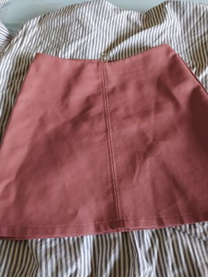 Primark Faux Leather Skirt rose-gold-coloured