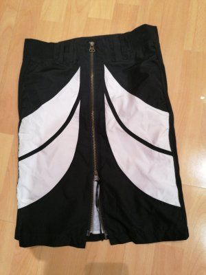 Made in Italy Rok met hoge taille wit-zwart