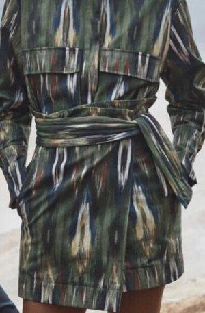 Mango Premium Kopertowa spódnica ciemnozielony-khaki