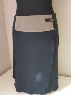 Marc Cain Wraparound Skirt black-grey brown