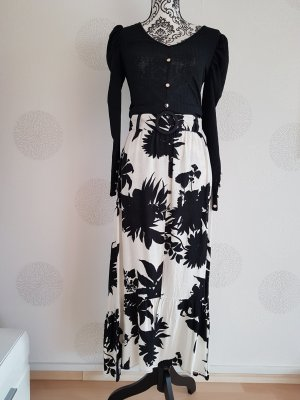 Zara Maxi Skirt white-black