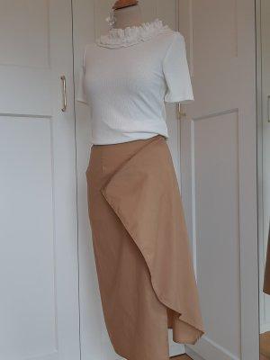 Michel Mayer Asymmetry Skirt sand brown-camel