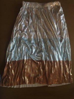 Rock Midi Plissee Glitter Zara
