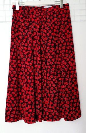 Givenchy Falda midi negro-rojo Poliéster