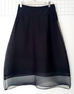 Schumacher Falda midi negro Seda