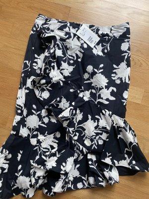 H&M Johanna Ortiz Flounce Skirt black-white