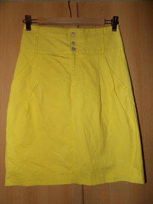 Rock Mini Highwaist Zara gelb Stiefel Gr. 34