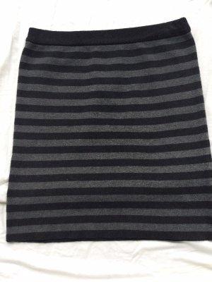 Koton Gonna lavorata a maglia nero-grigio scuro