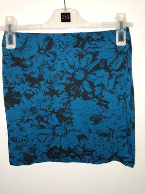 Rock minirock von atmosphere grösse 34 XS Stretch blau Blumen geblümt Mini Rock