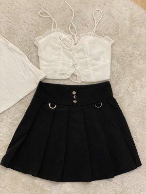Camicetta body nero-bianco