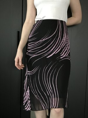 Taffeta Skirt black-light pink viscose