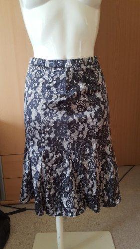 Orsay Godet Skirt black-white polyester