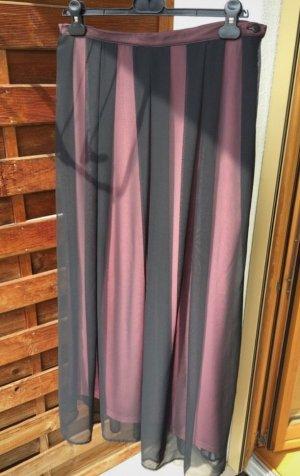 Falda larga negro-rosa