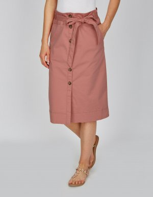 Bexleys Midi Skirt mauve-pink cotton