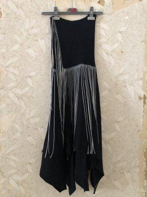Zara Asymmetrische rok zwart-wit