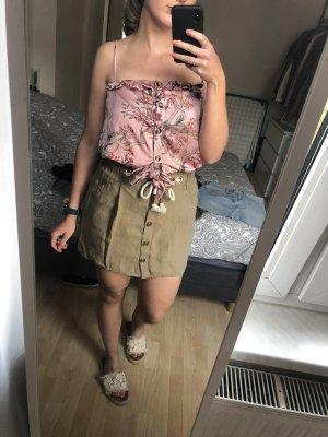 Zara Jupe en lin kaki