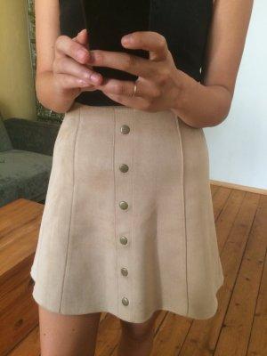 Amisu Spódnica ze stretchu jasnobeżowy Tkanina z mieszanych włókien