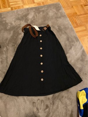 Batik Midi-rok zwart