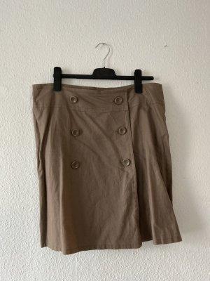 Yessica Falda de lino marrón claro