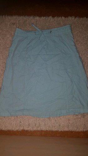 Zero Falda de lino verde grisáceo-azul bebé
