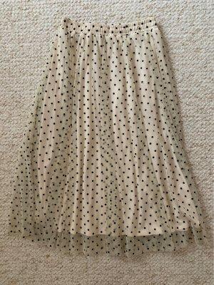 H&M Tiulowa spódnica Wielokolorowy
