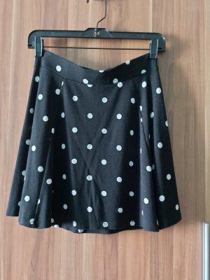 H&M Divided Spódnica z koła biały-czarny