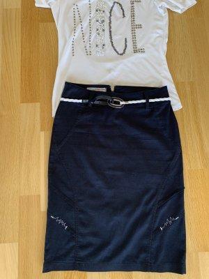 Lisa Campione Pencil Skirt dark blue