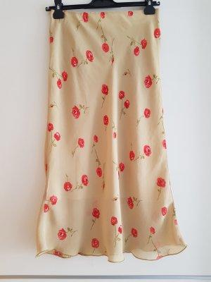 Unbekannter designer Jupe longue marron clair-rouge brique