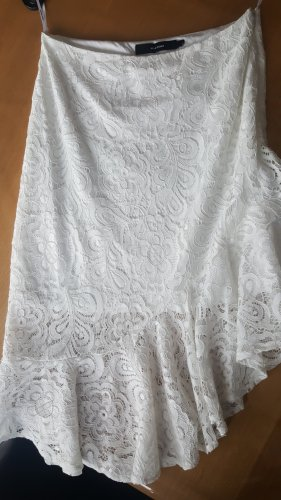 Vero Moda Falda asimétrica blanco